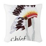 indian head dress,chief.jpg Woven Throw Pillow