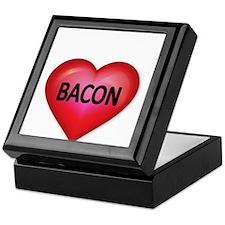 Red heart with BACON Keepsake Box