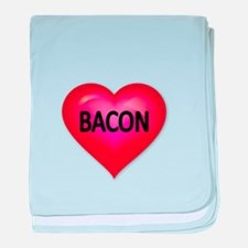 Red heart with BACON baby blanket