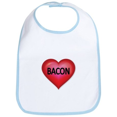 Red heart with BACON Bib
