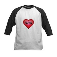 Red heart with BACON Baseball Jersey