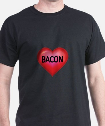 Red heart with BACON T-Shirt