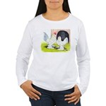Porcelain d'Uccle Rooster and Women's Long Sleeve