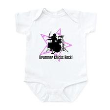Drummer Chicks Rock Infant Bodysuit