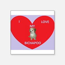 I LOVE MY BICHAPOO Sticker