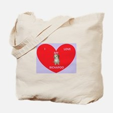 I LOVE MY BICHAPOO Tote Bag