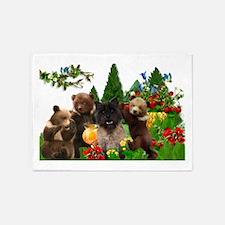 Cairn Terrier Bears 5'x7'Area Rug