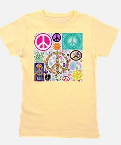 Peace Paisley Collage Girl's Tee