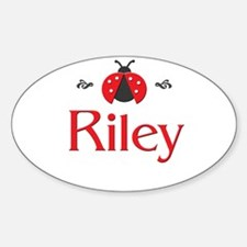 Red LadyBug - Riley Oval Decal