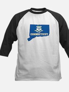 Connecticut Flag Kids Baseball Jersey