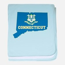 Connecticut Flag baby blanket