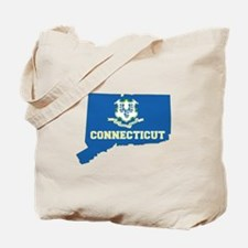 Connecticut Flag Tote Bag