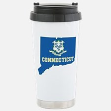 Connecticut Flag Travel Mug