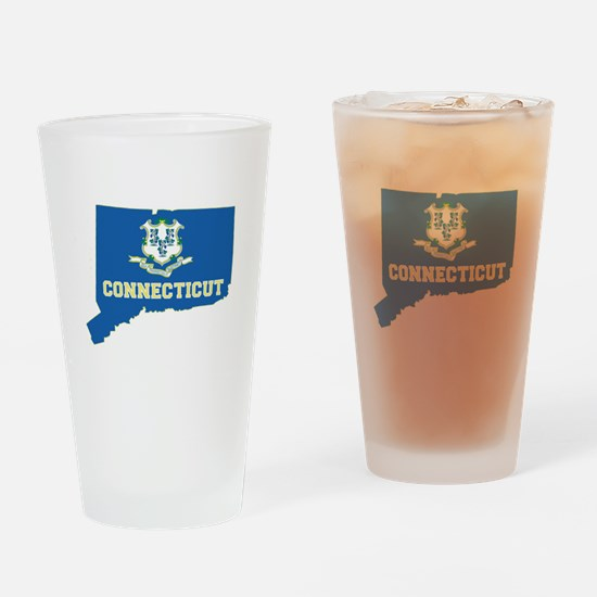 Connecticut Flag Drinking Glass