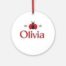 Red LadyBug - Olivia Ornament (Round)