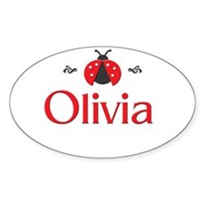 Red LadyBug - Olivia Oval Decal