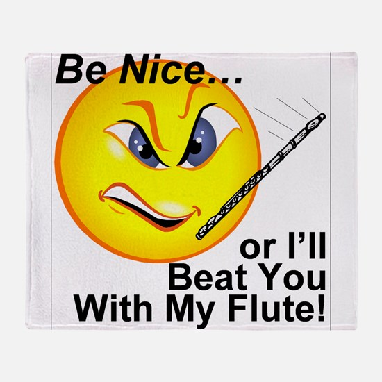 Beat with Flute Throw Blanket