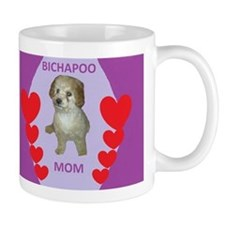 BICHAPOO MOM w/HEARTS Mug