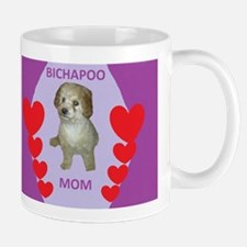 BICHAPOO MOM w/HEARTS Mug