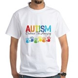 Autism Mens White T-shirts
