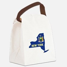 New York Flag Canvas Lunch Bag