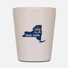 New York Flag Shot Glass