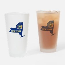 New York Flag Drinking Glass