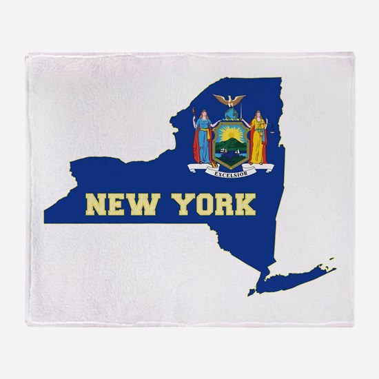 New York Flag Throw Blanket