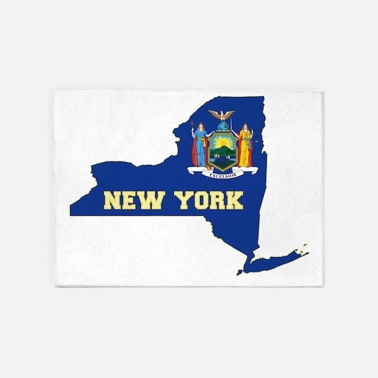 New York Flag 5'x7'Area Rug