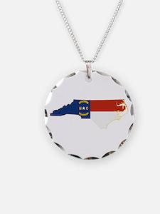 North Carolina Flag Necklace