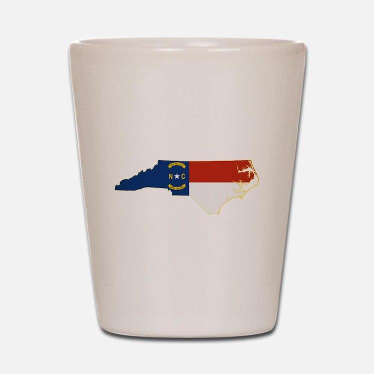 North Carolina Flag Shot Glass