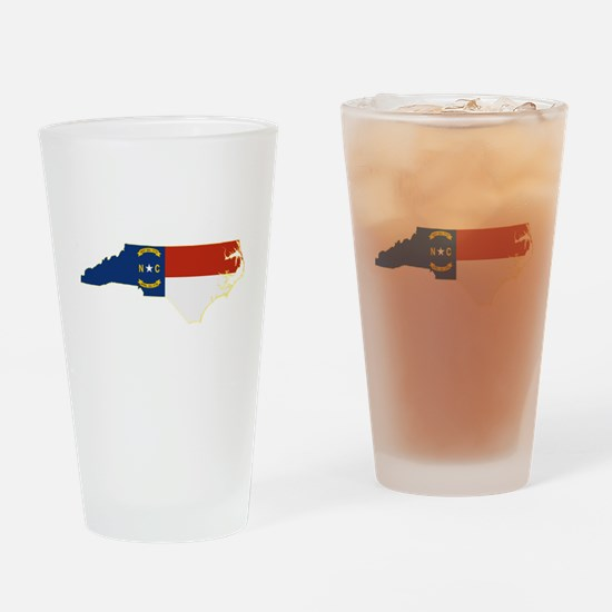 North Carolina Flag Drinking Glass