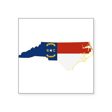 "North Carolina Flag Square Sticker 3"" x 3"""