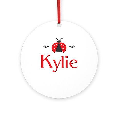 Red LadyBug - Kylie Ornament (Round)