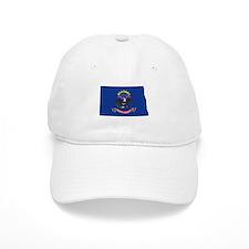 North Dakota Flag Baseball Cap