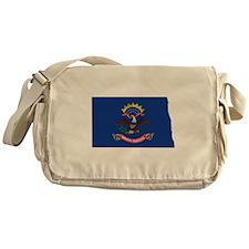 North Dakota Flag Messenger Bag