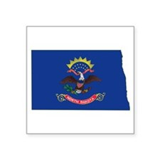 """North Dakota Flag Square Sticker 3"""" x 3"""""""