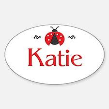 Red LadyBug - Katie Oval Decal