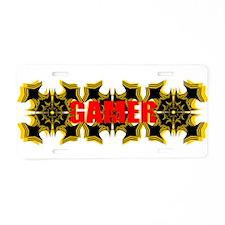 Gamer Aluminum License Plate
