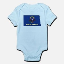 North Dakota Flag Infant Bodysuit