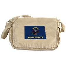 North Dakota Flag Messenger Bag