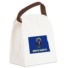 North Dakota Flag Canvas Lunch Bag