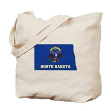 North Dakota Flag Tote Bag
