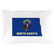 North Dakota Flag Pillow Case