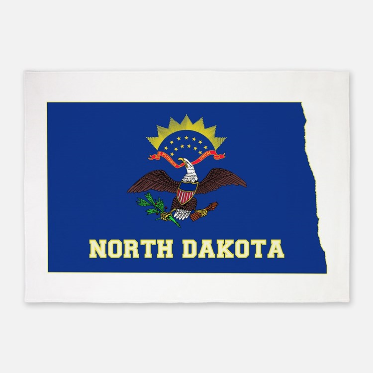 North Dakota Flag 5'x7'Area Rug