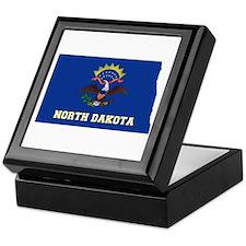 North Dakota Flag Keepsake Box