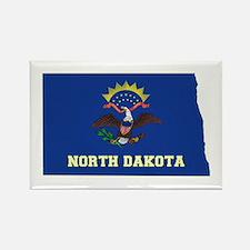 North Dakota Flag Rectangle Magnet