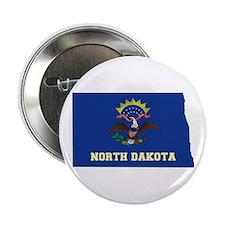 "North Dakota Flag 2.25"" Button"