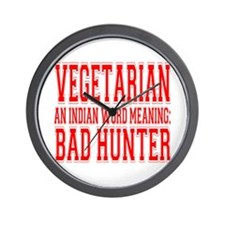 Bad Hunter Wall Clock
