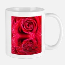 Reflections Of A Wet Red Rose Mug